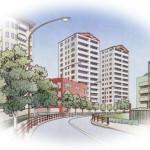 中高層住居専用地域のイメージ画像